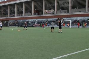 Training mit dem FC Lampedusa IV