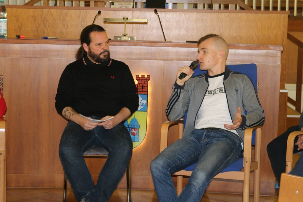 Ihor Kovtun antwortet Moderator Ingo Petz