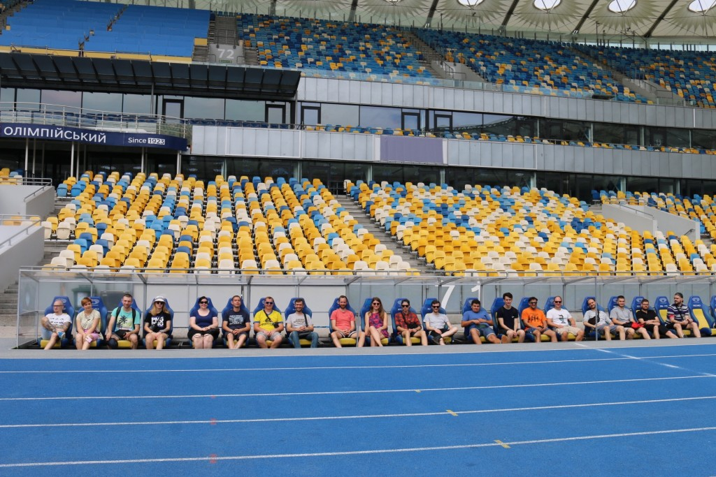 Im Kiewer Olympiastadion