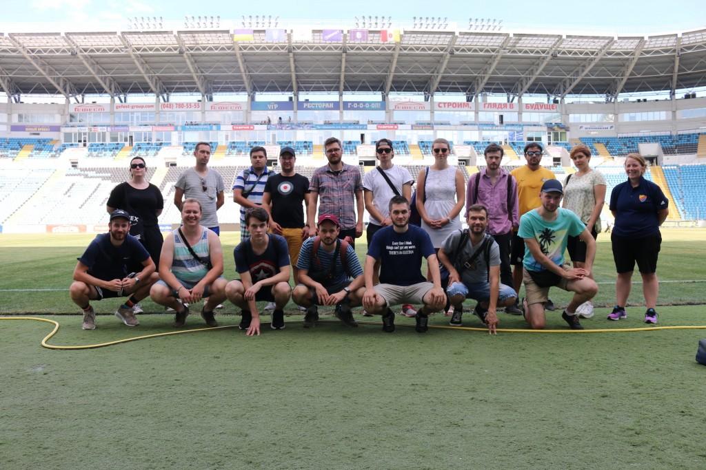 Im Tschernomorez-Stadion Odessa